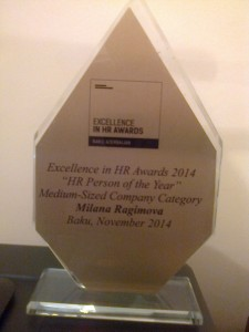 MİLANA HR PERSON OF THE YEAR2014
